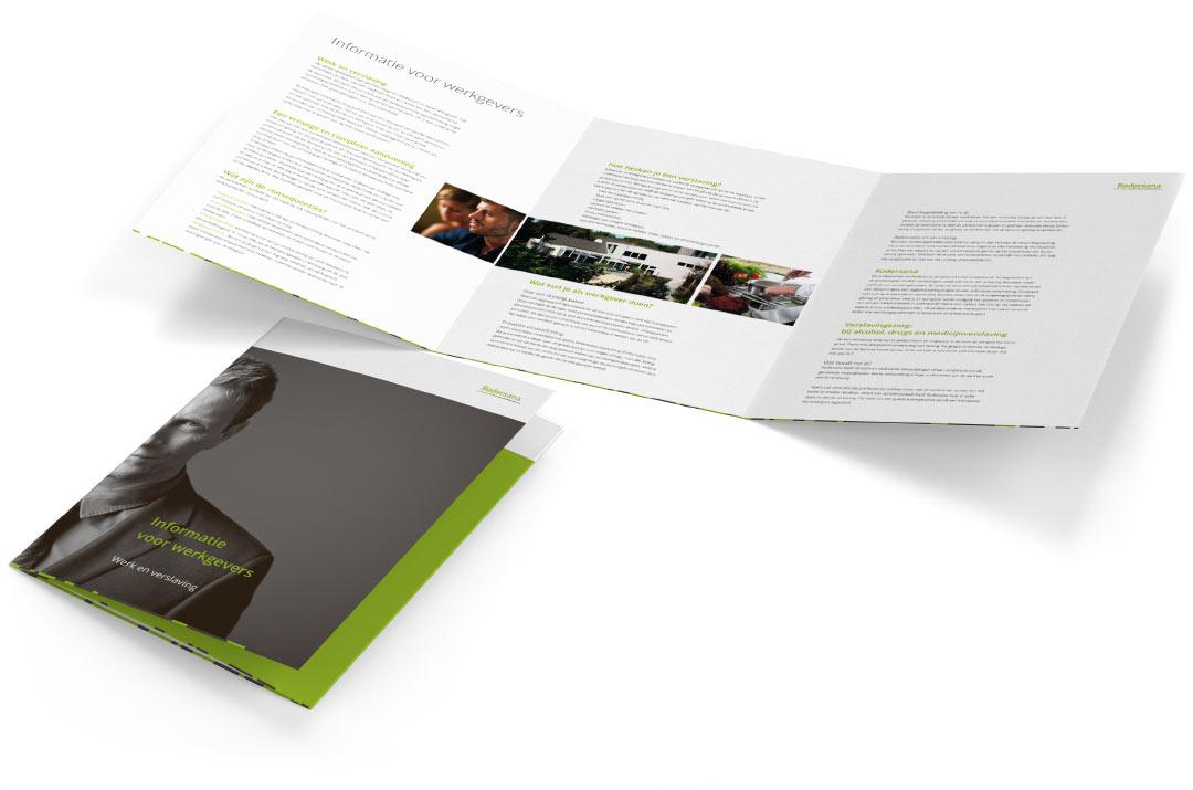 Ontwerp en opmaak folder 3luik A4 Rodersana