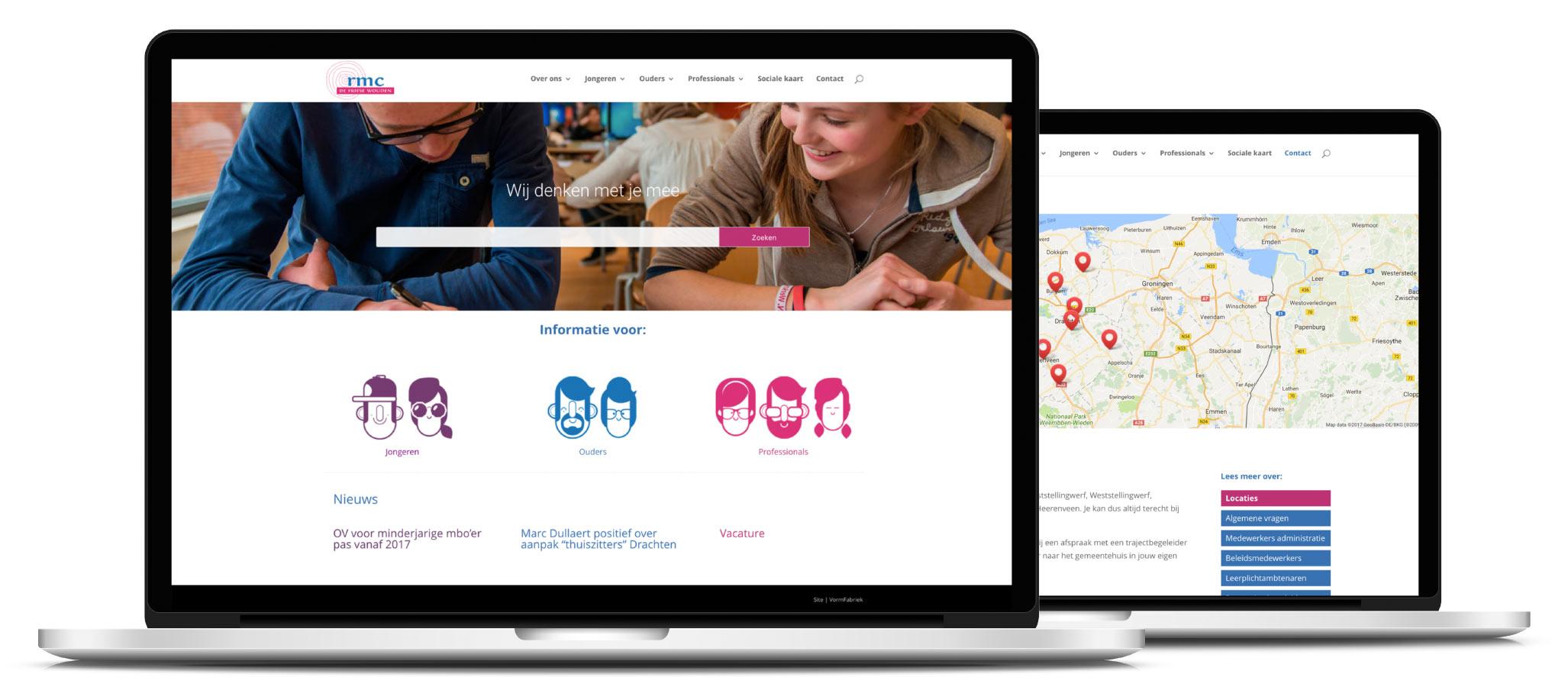 Responsive website RMC de Friese Wouden